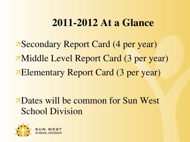 2011-2012 At a Glance