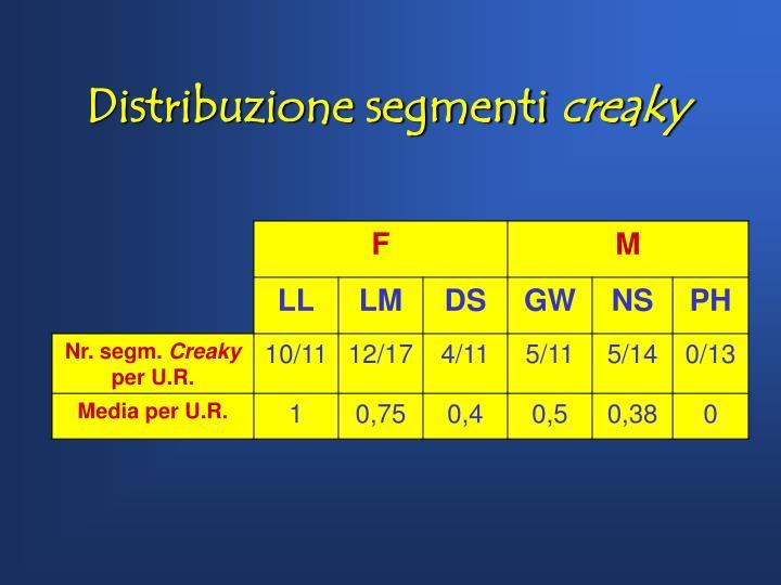 Distribuzione segmenti