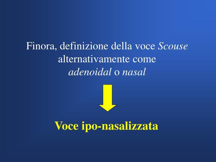 Voce ipo-nasalizzata