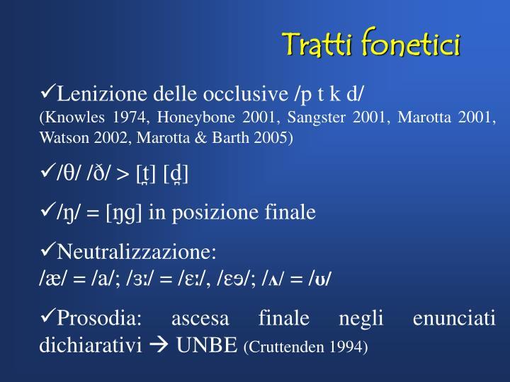 Tratti fonetici