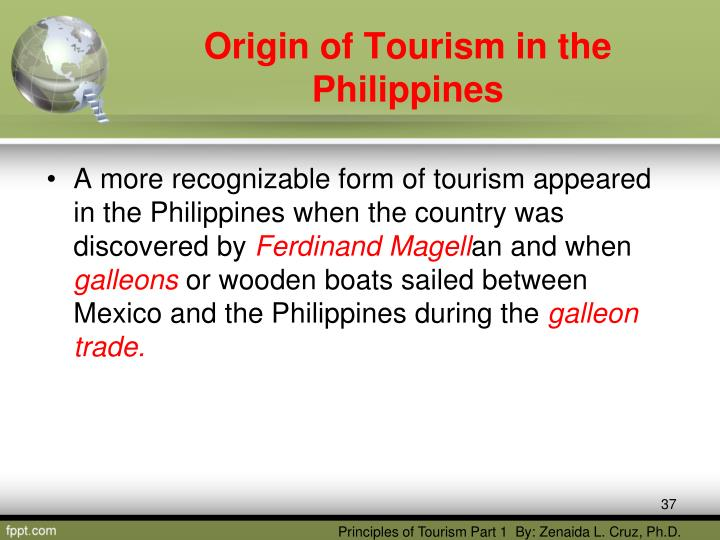 origin of tourism in the philippines