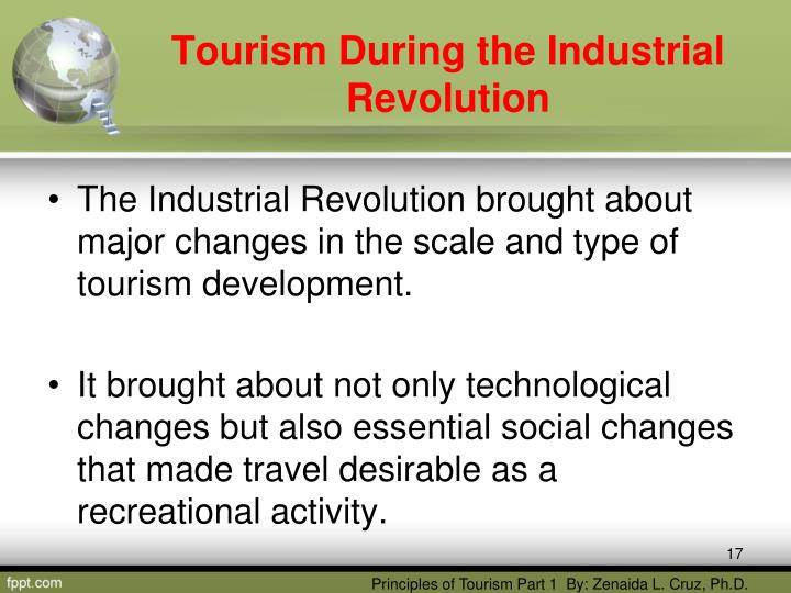the effect of tourism during the industrial revolution