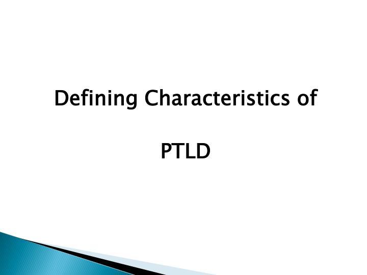 Defining Characteristics of