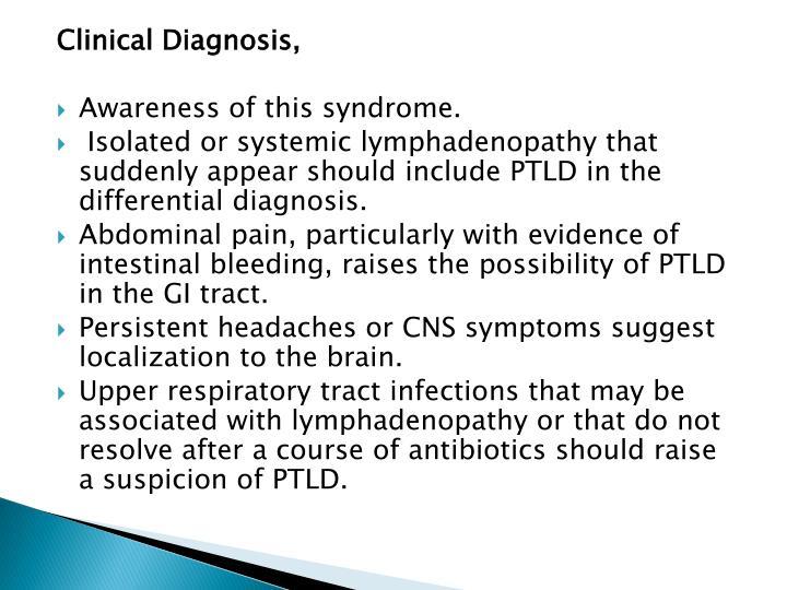 Clinical Diagnosis,