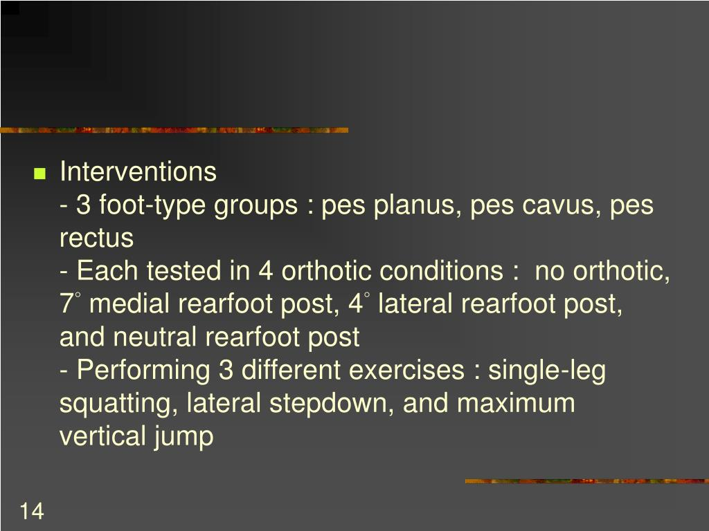 PPT - Mechanics and control of the pes planus versus normal
