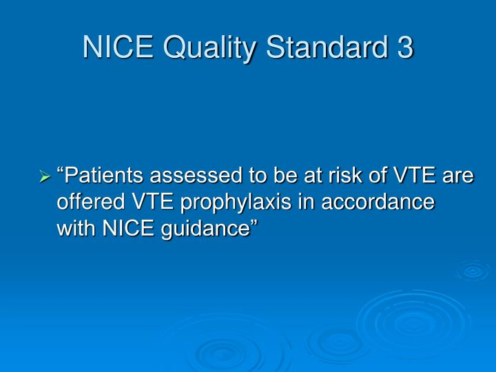 NICE Quality Standard 3