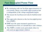 fast decoupled power flow
