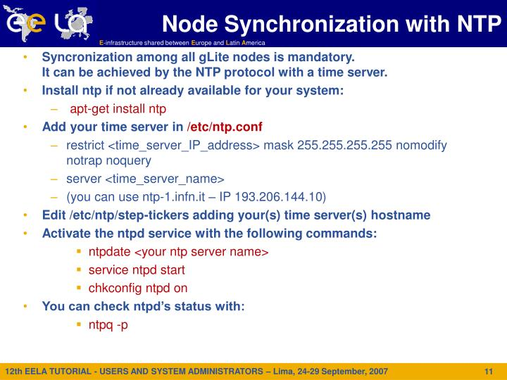 Node Synchronization with NTP