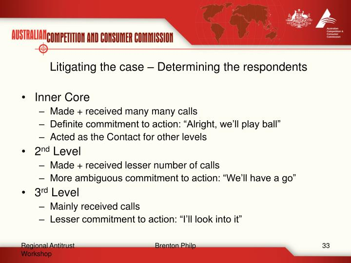 Litigating the case – Determining the respondents
