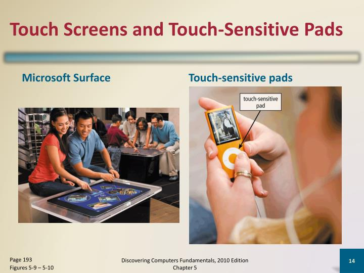 Touch Screens and Touch-Sensitive Pads