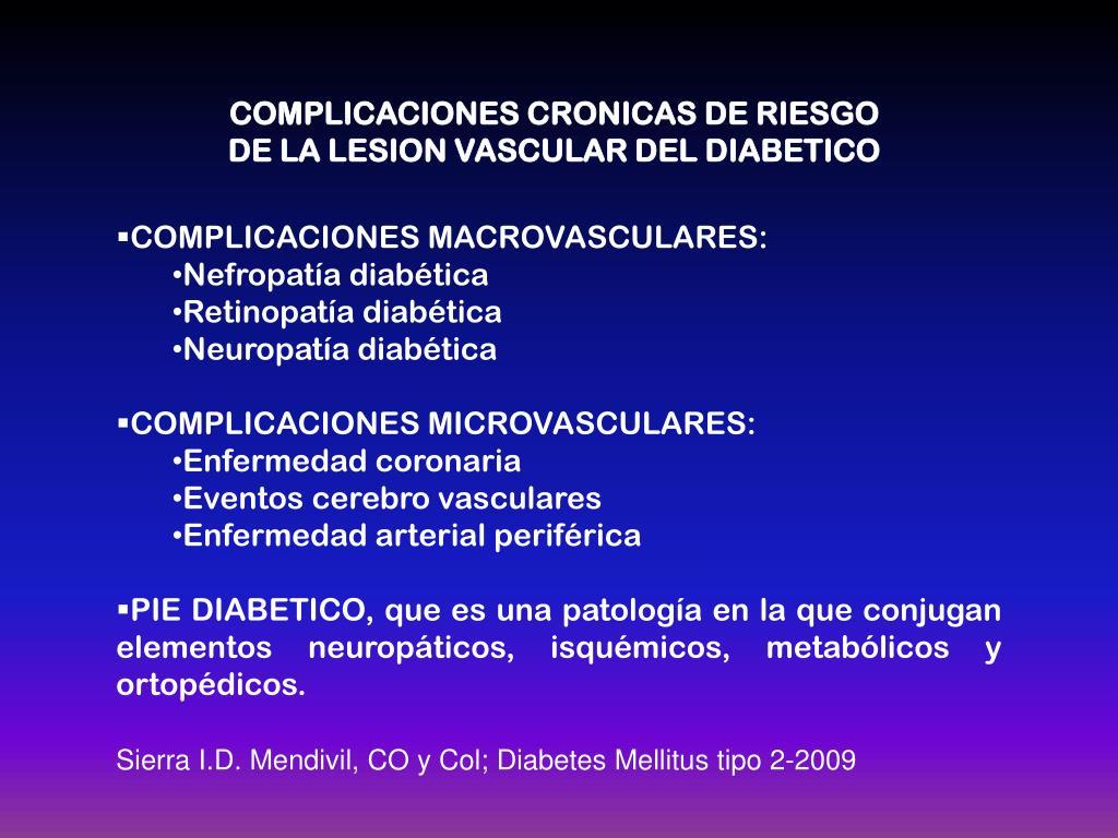 complicaciones micro y macro vasculares de la diabetes