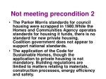 not meeting precondition 2