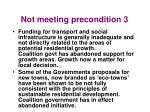 not meeting precondition 31