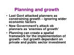planning and growth