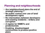 planning and neighbourhoods