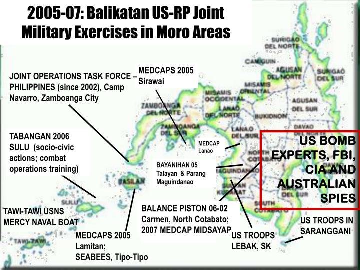 2005-07: Balikatan US-RP Joint Military Exercises in Moro Areas