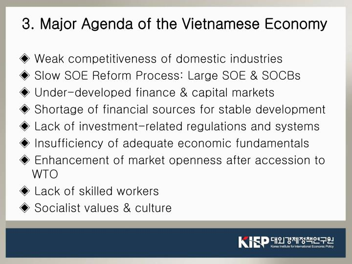◈ Weak competitiveness of domestic industries