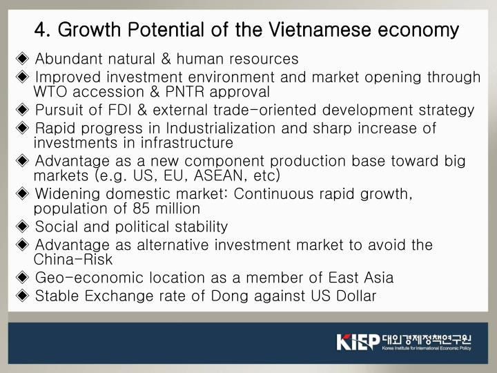 4. Growth Potential of the Vietnamese economy
