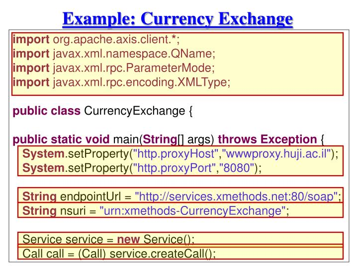 Example: Currency Exchange