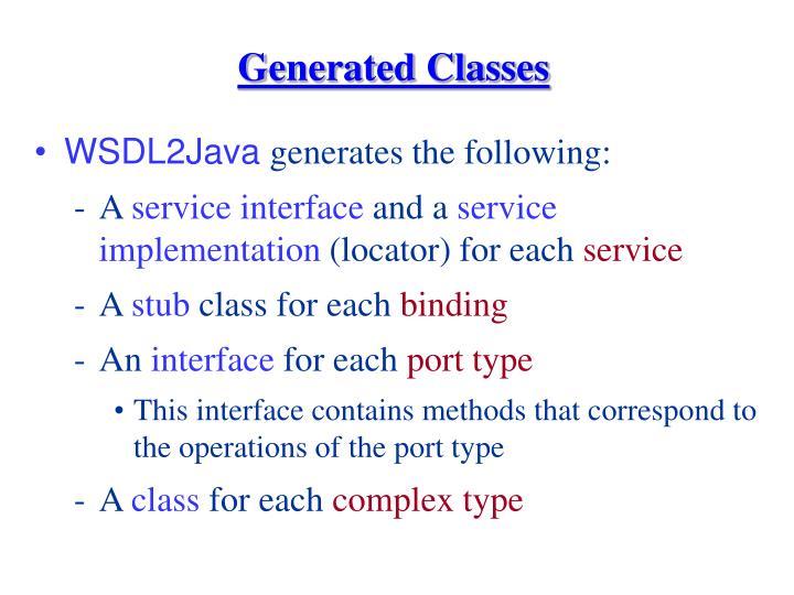 Generated Classes