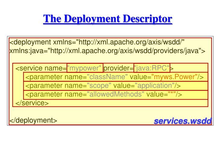 The Deployment Descriptor