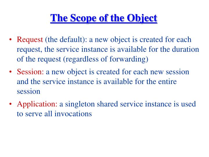 The Scope of the Object