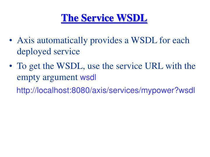 The Service WSDL