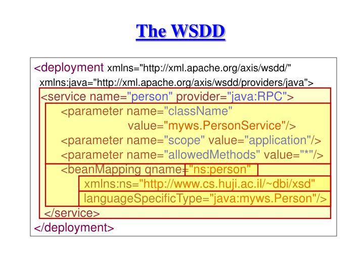 The WSDD