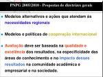 pnpg 2005 2010 propostas de diretrizes gerais