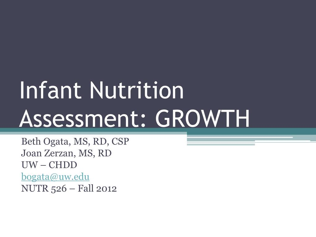 Ppt Infant Nutrition Assessment Growth Powerpoint Presentation