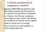 is china s purchase of u s companies a concern