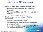 setting up sip edu services