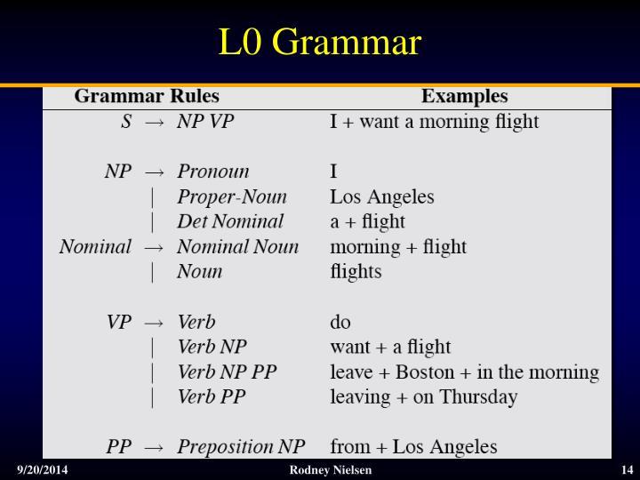 L0 Grammar