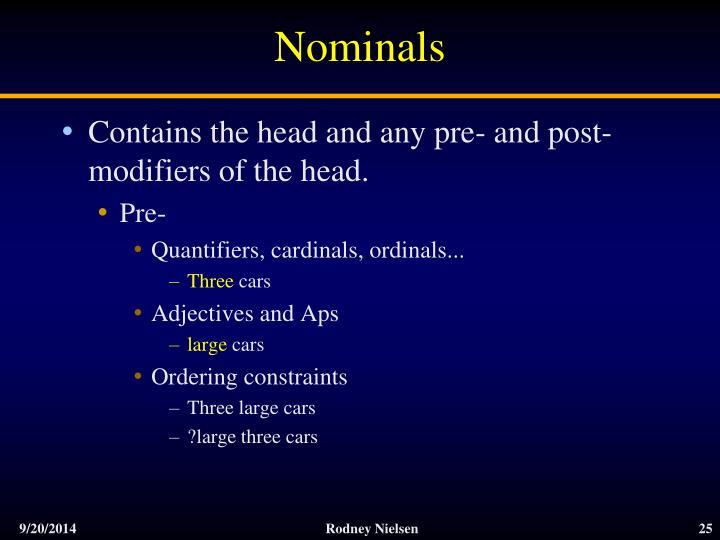 Nominals