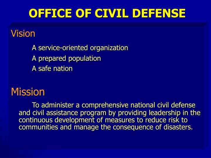 OFFICE OF CIVIL DEFENSE
