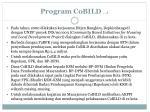 program cobild 1