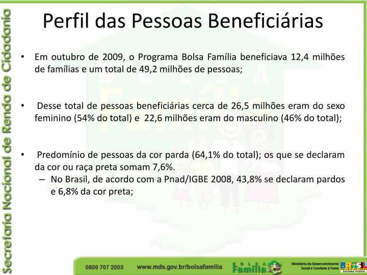 Perfil das Pessoas Beneficiárias