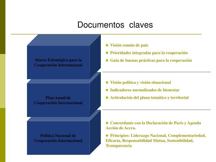 Documentos  claves