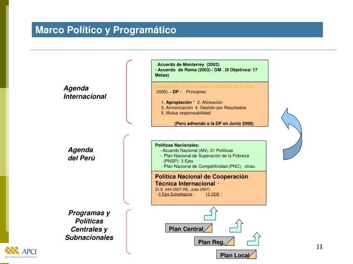 Marco Político y Programático