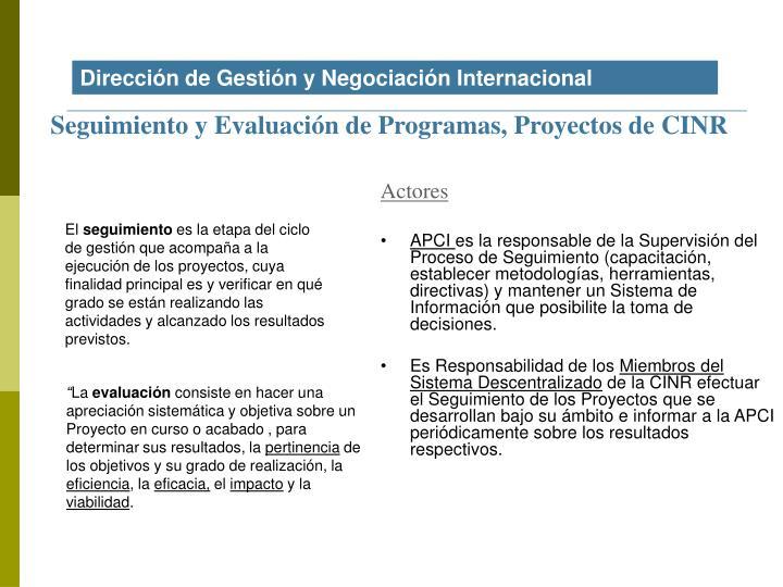 Dirección de Gestión y Negociación Internacional