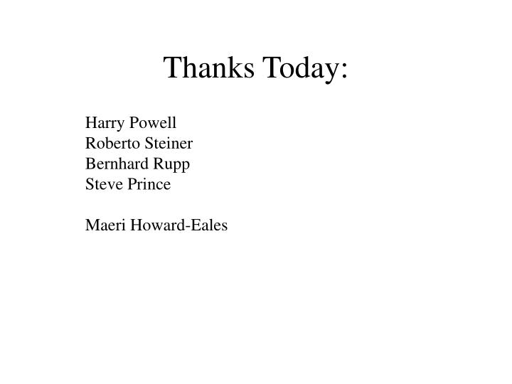 Thanks Today: