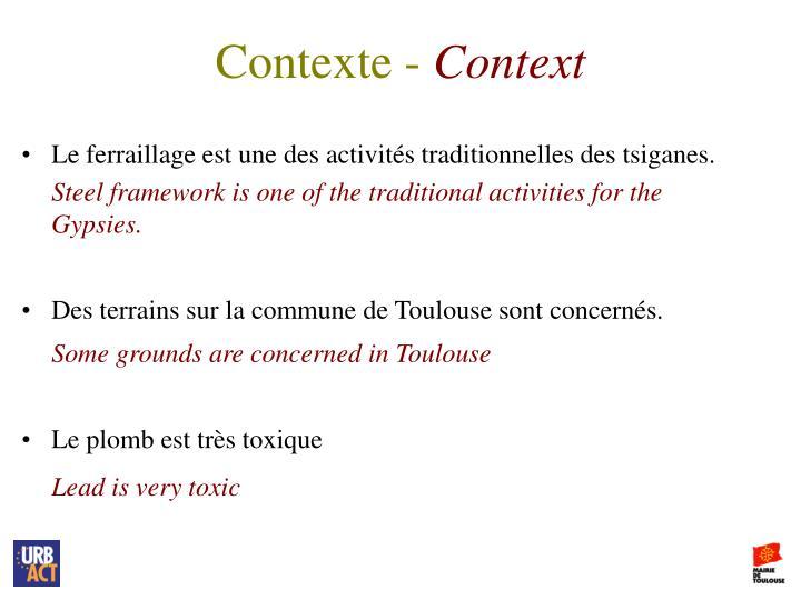 Contexte -