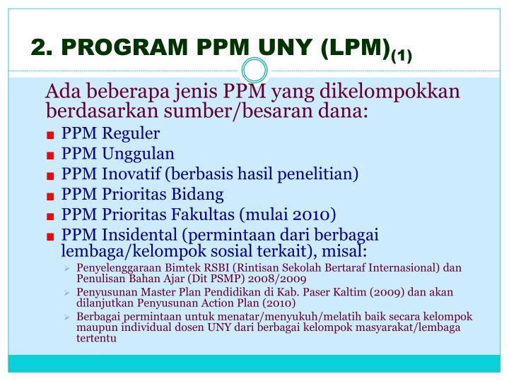 2. PROGRAM PPM UNY (LPM)