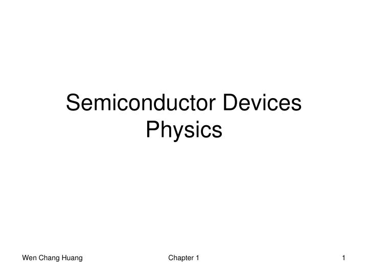 semiconductor devices physics n.