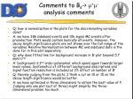 comments to b s m m analysis comments1