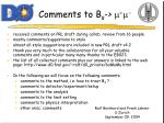 comments to b s m m