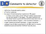 comments to detector