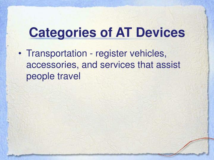 Categories of AT Devices