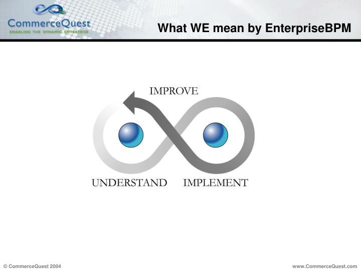 What WE mean by EnterpriseBPM