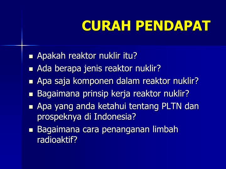 CURAH PENDAPAT
